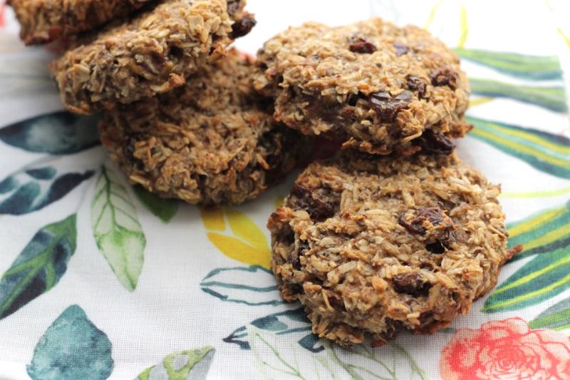 Egg-Free and Easy: Banana Raisin Breakfast Cookies