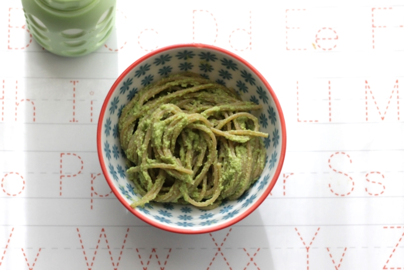 Yummy Broccoli Pesto (made without oil) Pasta