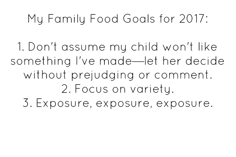 Easy goals for healthy family eating
