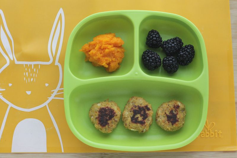 Sweet Potato Chicken Bites for little ones