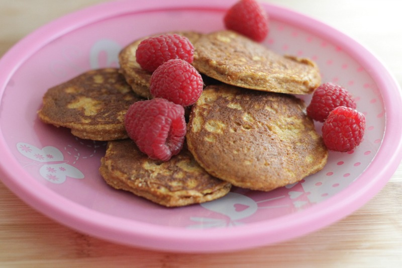 Grain-free sweet potato pancakes kids will love