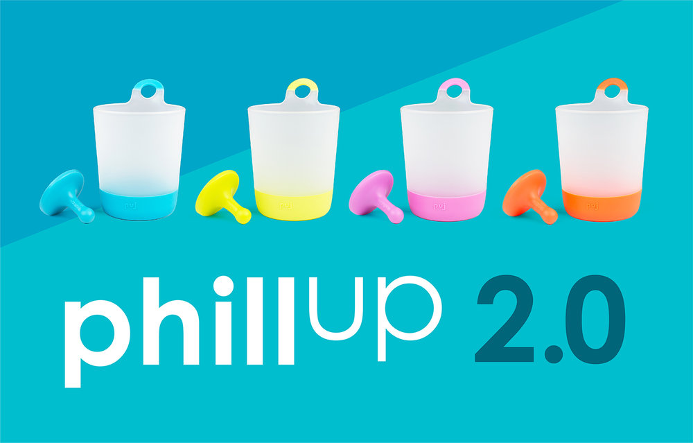 Newly redesigned Puj Phillup cups to help teach independence in the kitchen