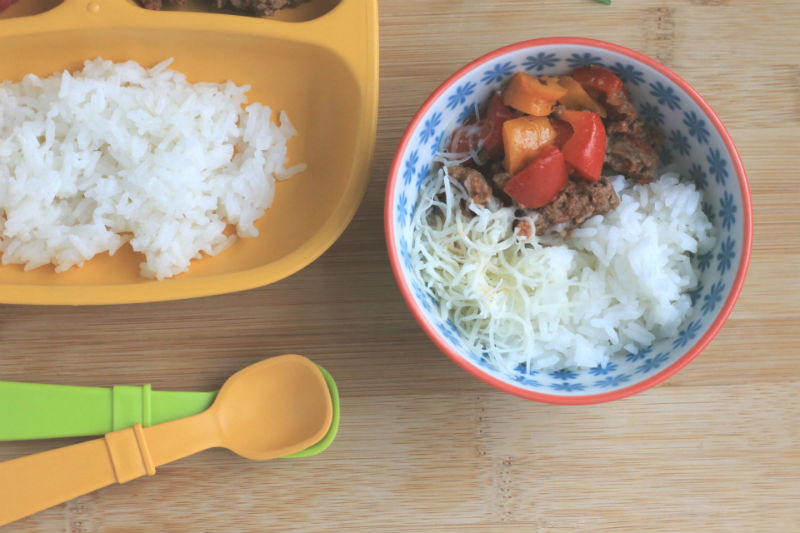 Unstuffed peppers for parents and kids!