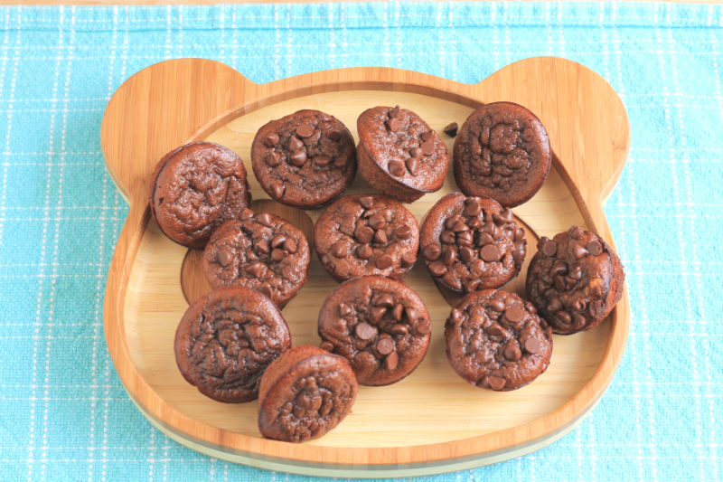 Cocoa Sunbutter Muffins with Veggies