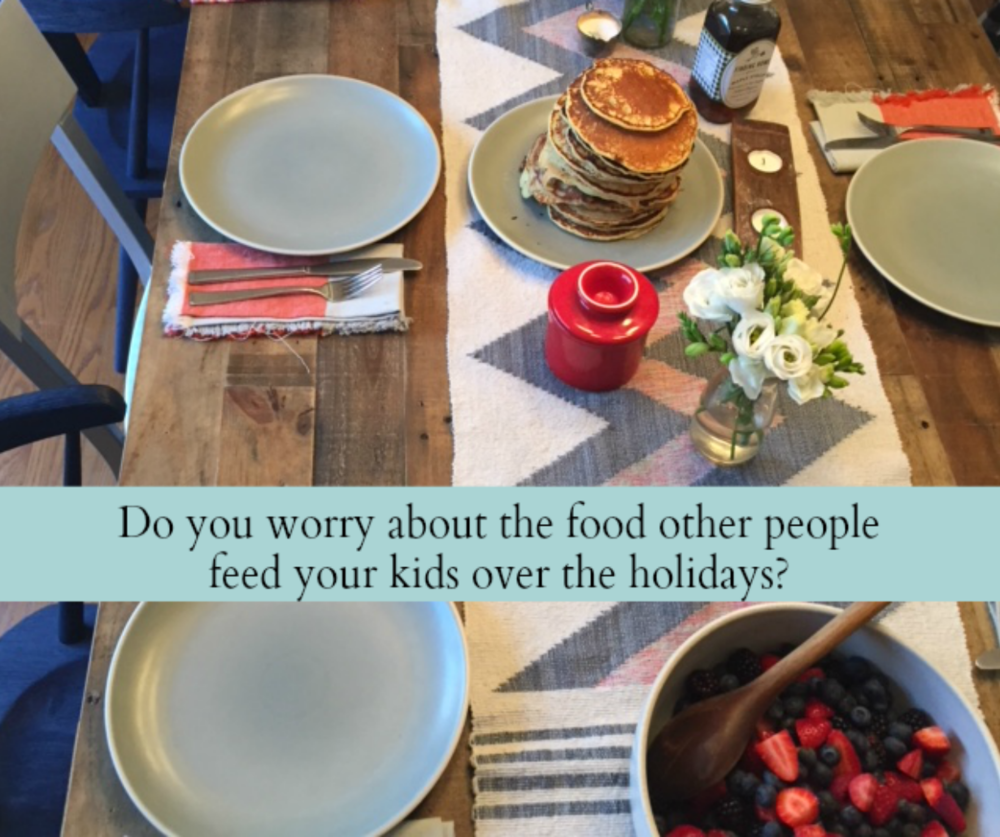 What to do with worry over the food other people feed your kids.