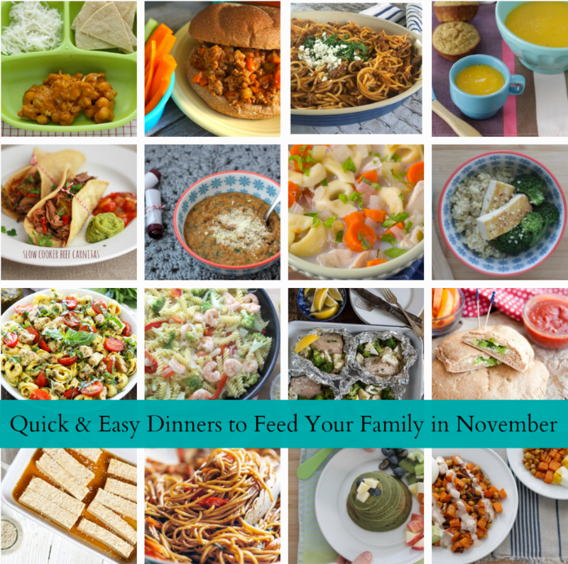 16 Quick & Easy Meals to Feed Your Family this Month