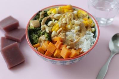 Rice Bowls with Peanut Sauce