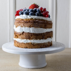Honey Oat Smash Cake