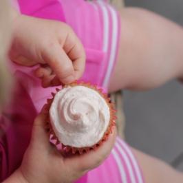 Maple Strawberry Cupcakes
