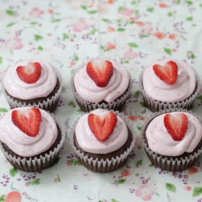 Low Sugar Choc Cupcakes