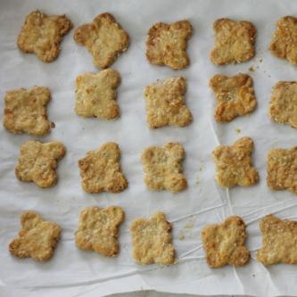 Cheesy Oat Crackers