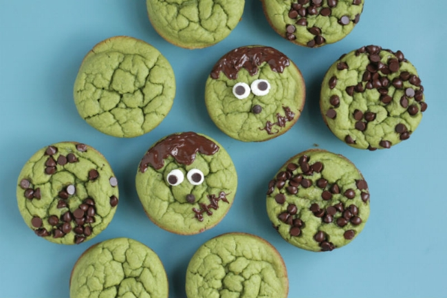 Frankenstein muffins packed with goodness!
