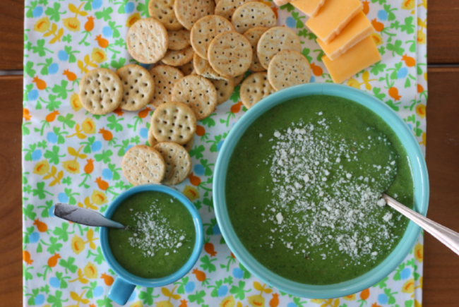 Broccoli Pea Soup for toddlers