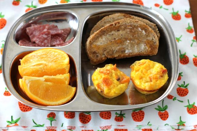 Make-Ahead Egg and Cheese Mini Muffins (via yummytoddlerfood.com)