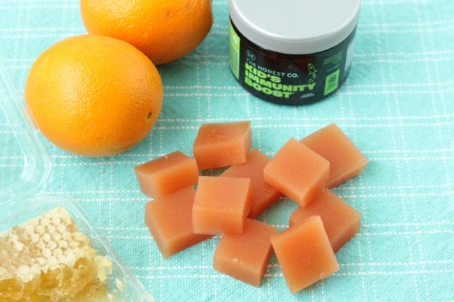 Orange Honey Fruit Snacks via yummytoddlerfood.com