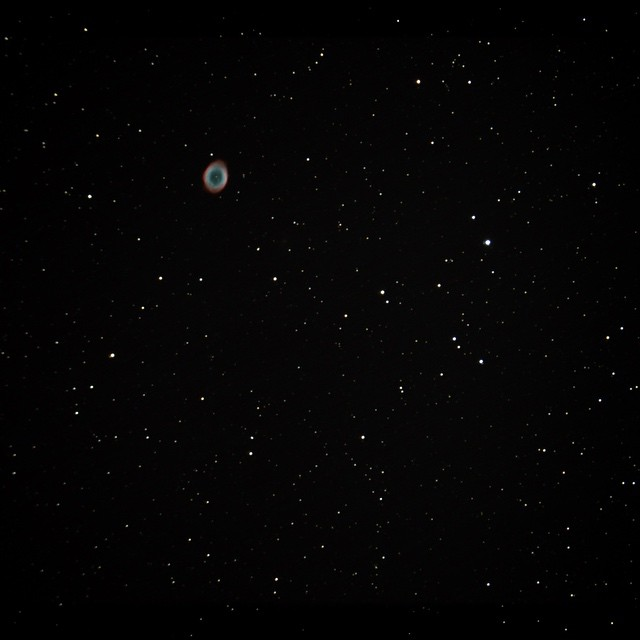 M57 Ring Nebula, 125 stacked 20s exposures.