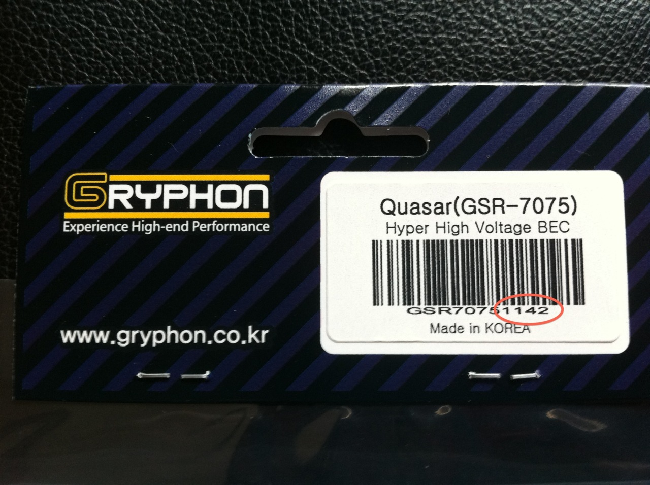 Gryphon has recalled two production batches of the  Gryphon Quasar GSR7075 20A High Voltage BEC . If your header card ends in  1136  or  1137  then you have a defective unit. Gryphon is offering free replacement of any defective units. The defective batches were stocked by ReadyHeli & ExperienceRC in the US.    http://www.helifreak.com/showpost.php?p=3415782&postcount=283