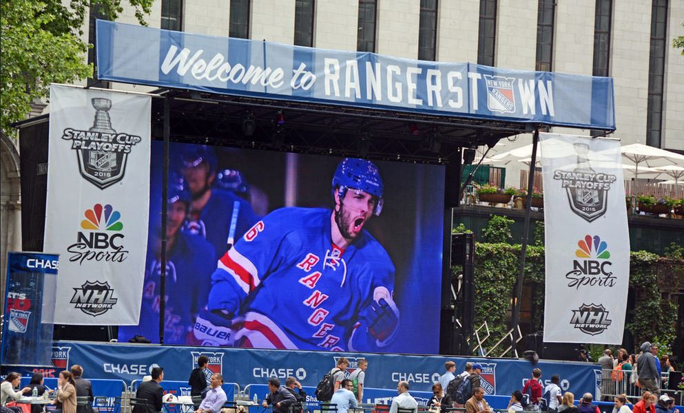 Rangers Game Viewing Party in Bryant Park   SL250