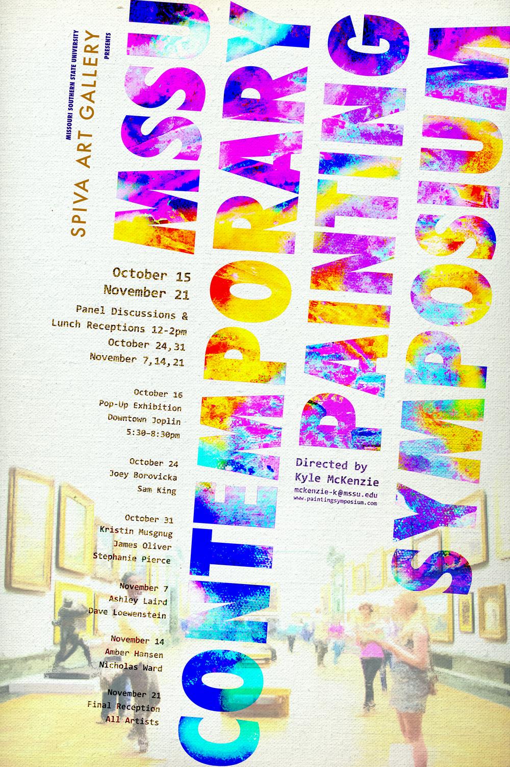 MSSU Contemporary Painting Symposium 24x36