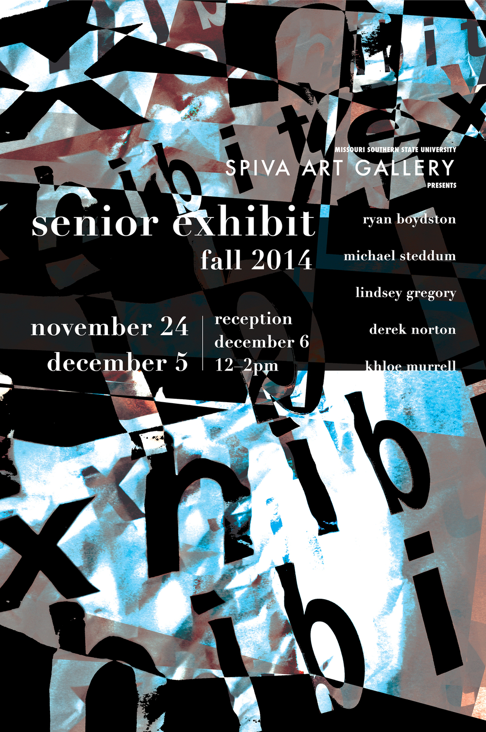 Senior Exhibit Fall 2014 24x36