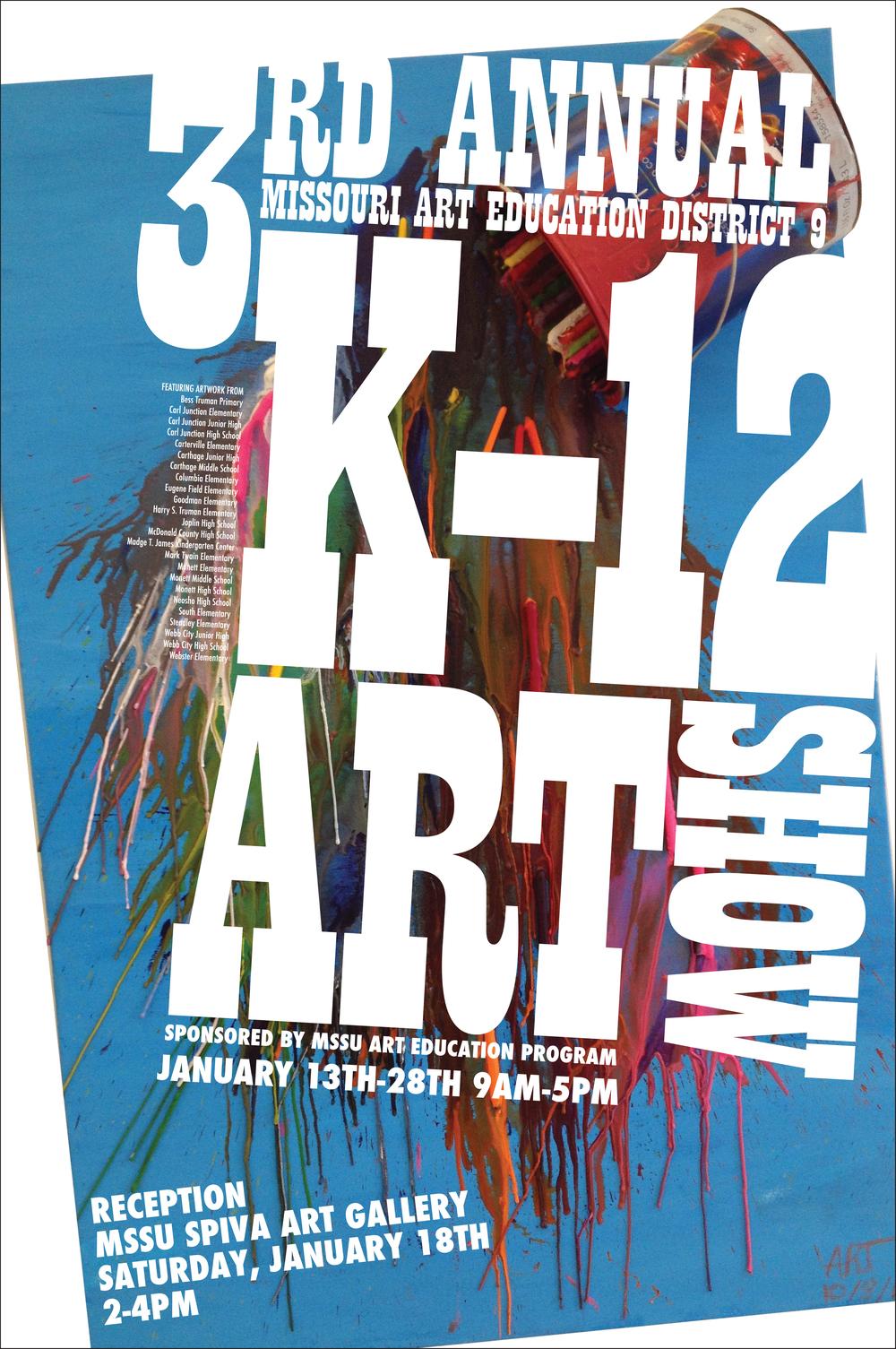 3rd Annual K-12 Art Show 24x36