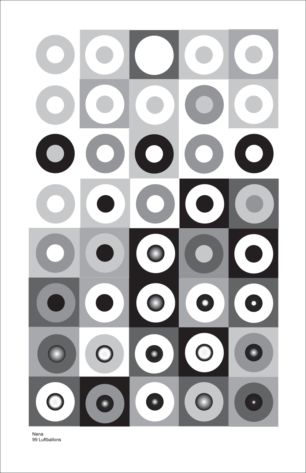 ART215 Illustrator/InDesign - Interpreting Music as Geometric Patterns: Jeremiah Johnson