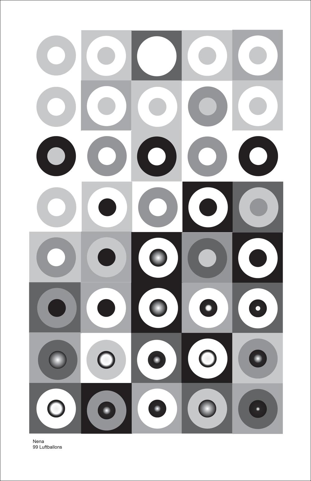ART215 Illustrator/InDesign - Interpreting Music as Geometric Patterns: Jeremiah Johnson