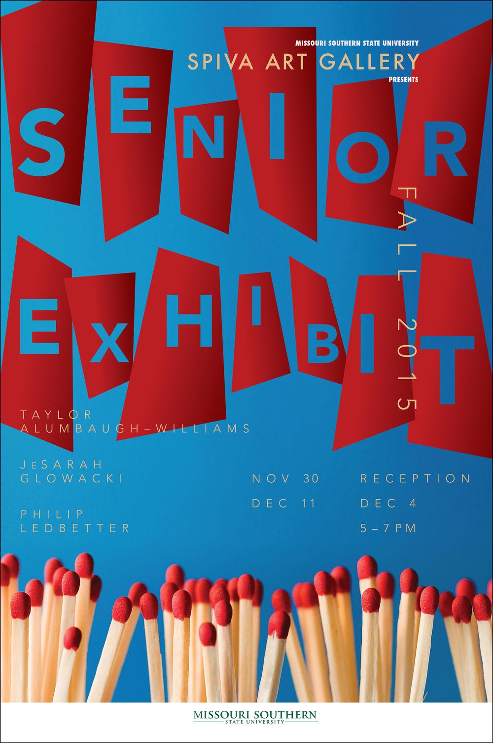 Senior Exhibit, Fall 2015 24x36