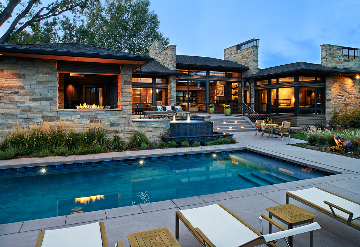 custom homes designs. Neidecker Pool Side jpg png  Haley Custom Homes Luxury Home Builders Denver CO