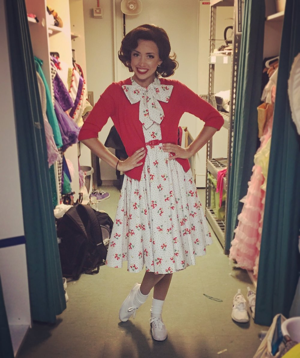 Holly is an ensemble member and Frenchy understudy.