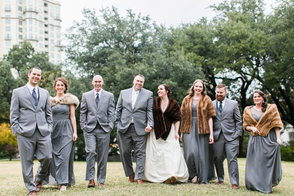 My cousins live in Michigan where vintage furs are easy to come by, and thank goodness for that. The weather dropped 30 degrees in Dallas for our wedding weekend.