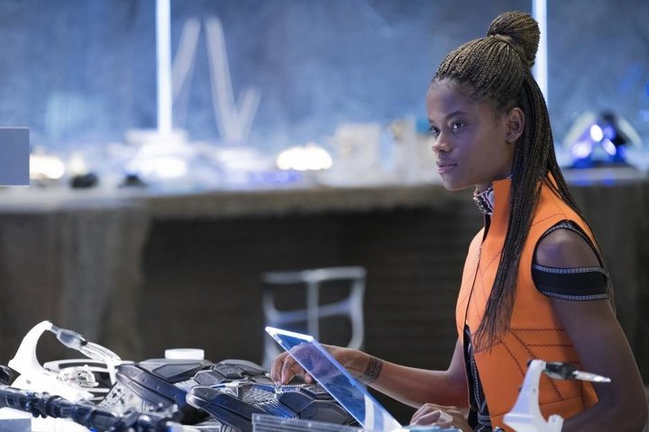 Letitia Wright as Shuri in  Black Panther  (Marvel Studios)