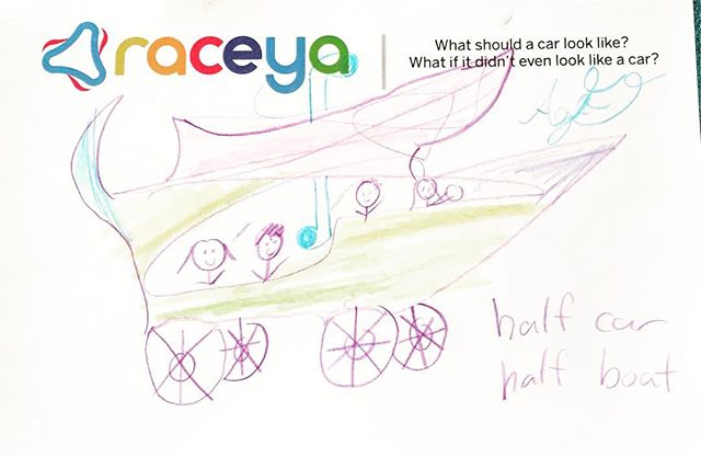 We asked kids to tell us what a car should look like. Here are their answers. #notacar #halfboat #kids