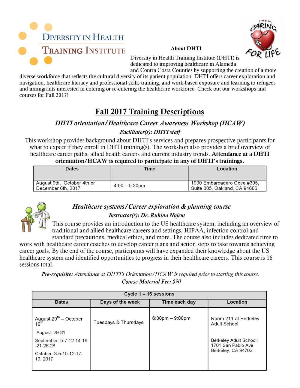 Healthcare Awareness Workshop