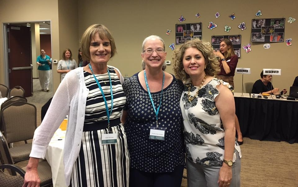 (L to R): Kate Whitaker, National Healthy Family America; Pauline Pauline Haas-Vaughn, Child & Family Resources Statewide Program Director for Healthy Families; and Esthela Navarro, Great Kids, Inc.