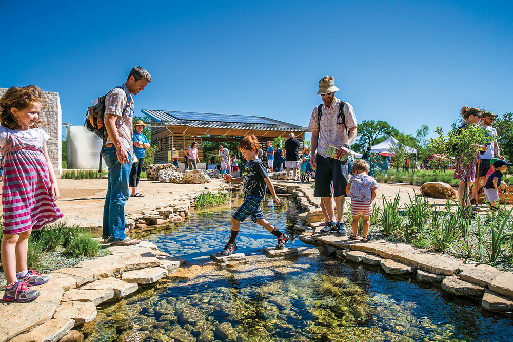SITES-CERTIFIED Luci & Ian Family Garden, Lady Bird Johnson Wildflower Center • Austin, TX • SustainableSites.org/Certified-Sites/FamilyGarden