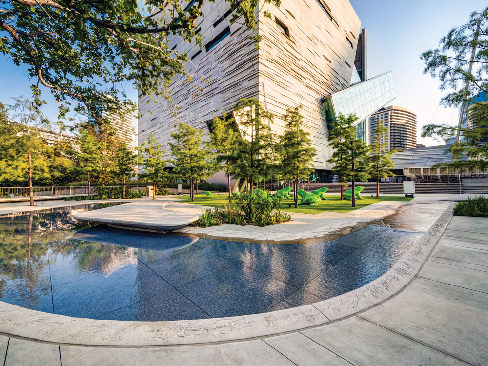 SITES-CERTIFIED PEROT MUSEUM OF NATURE AND SCIENCE•  Dallas, TX • SustainableSites.org/Certified-Sites/PerotMuseum