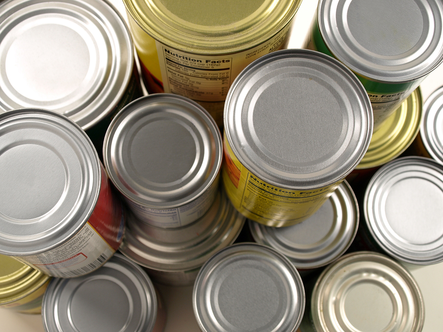 canned food stack