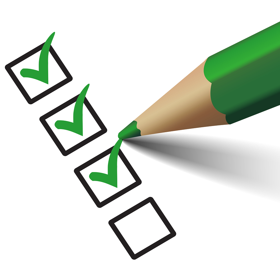 checklist with green checkmarks