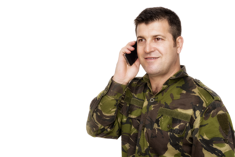 a veteran on the phone calling