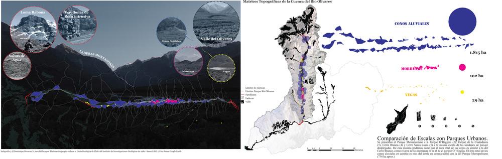Infografía 3           ©Dominique Bruneau S. para      LOFscapes.    Elaboración propia en base a: Carta Geológica de Chile del Instituto de Investigaciones Geológicas de 1980   •   Bases S.I.G. y Foto Aérea Google Earth.