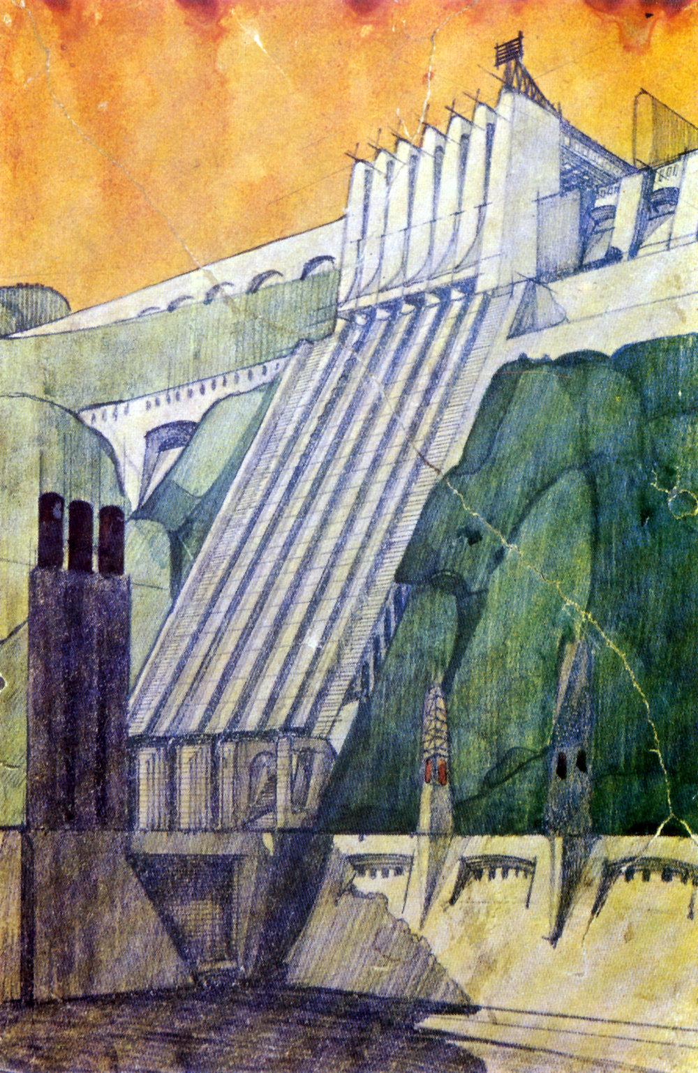 (1) Antonio Sant'Elia, Central eléctrica (1914) © Colección Paride Accetti, Milán