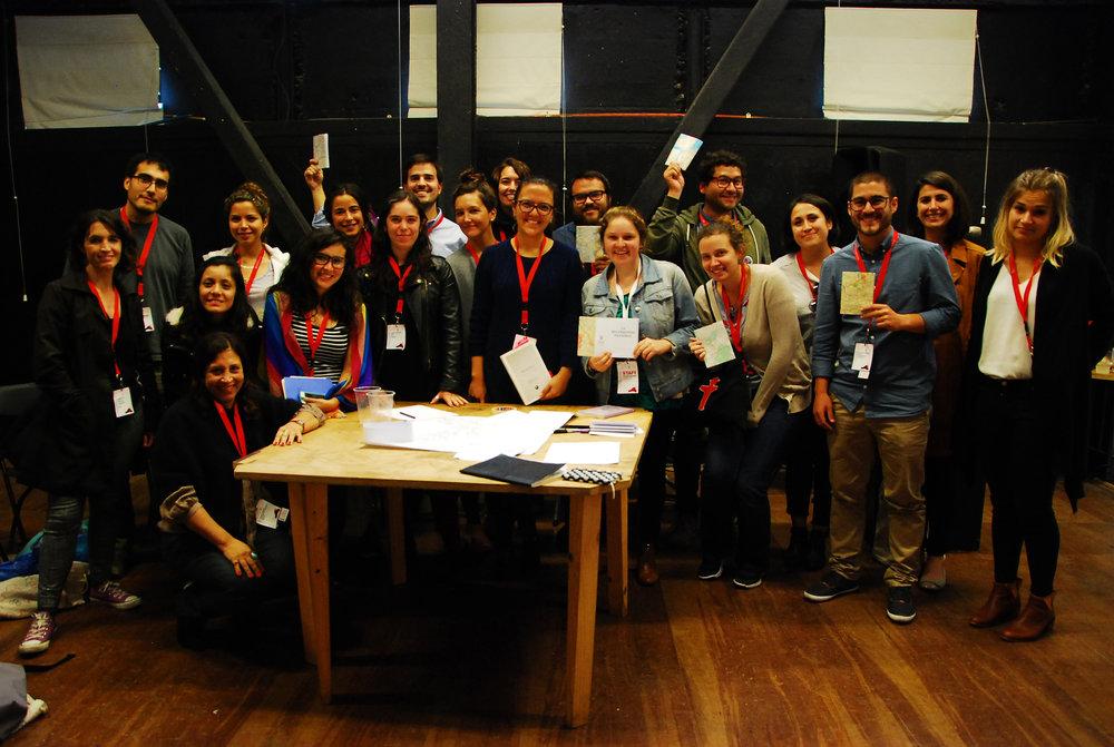 (5) Taller de La Reconquista Peatonal y lanzamiento de la primera versión del cuaderno-diario, Noviembre 2017 © Espacio Lúdico para Encuentro Placemaking Latinoamérica