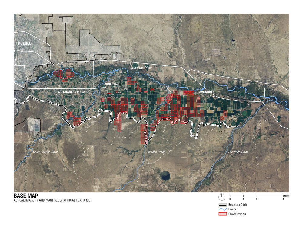 (1) Tierras en donde los derechos de agua fueron adquiridos por PBWW © Flavio Sciaraffia M. para  LOFscapes.