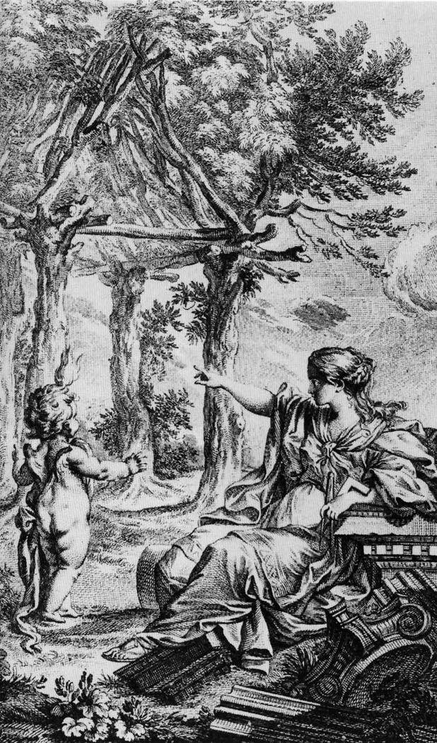 (2)Cabaña Primitiva, Grabado de Charles Eisen para Essai sur l'architecture (1753-1755) del Abate Marc Antoine Laugier..png
