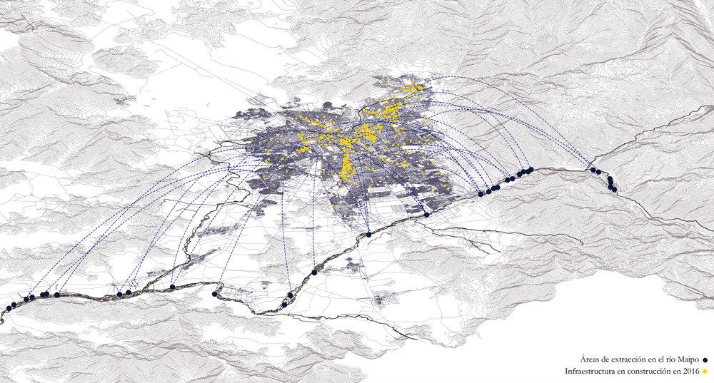 (3) Abastecimiento de la construcción en la Región Metropolitana © Montserrat Castro U. para LOFscapes.