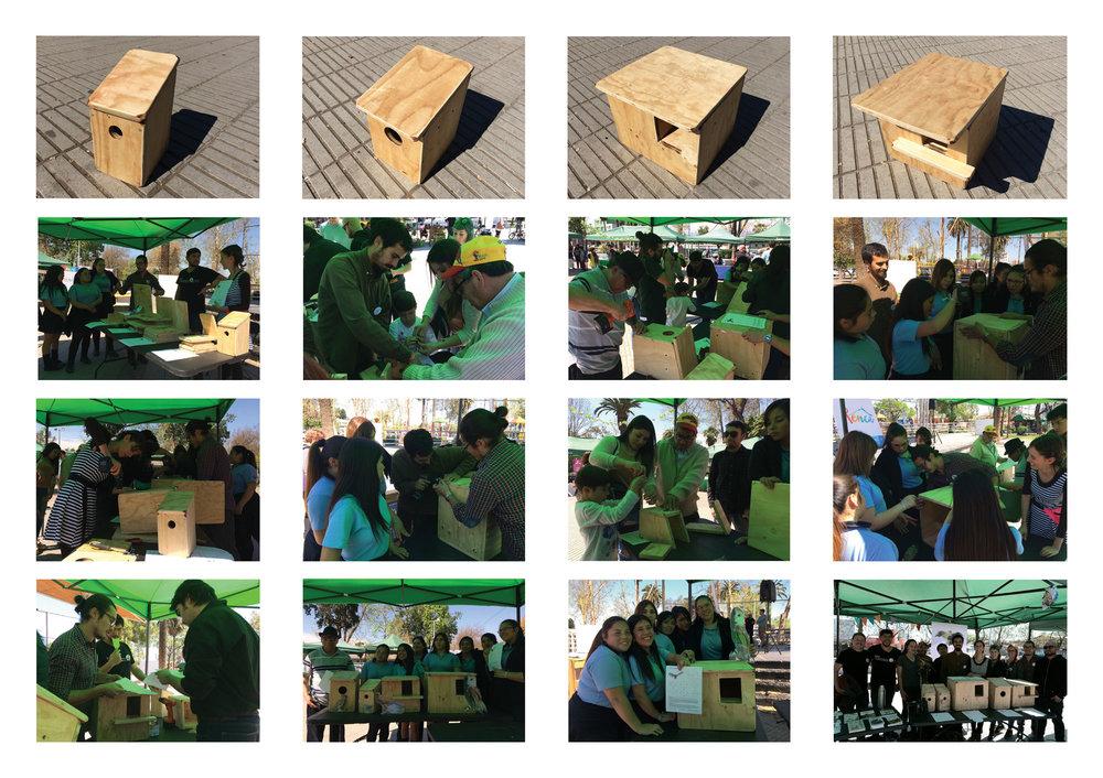 (4) Collage Taller Feria Ambiental Renca + Prototipos construidos © Paisaje Táctico + Renca Nativa + Semillas para LOFscapes