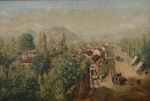 (2)  La Cañada de Santiago  (1863) © Ernesto Charton (atribuido)