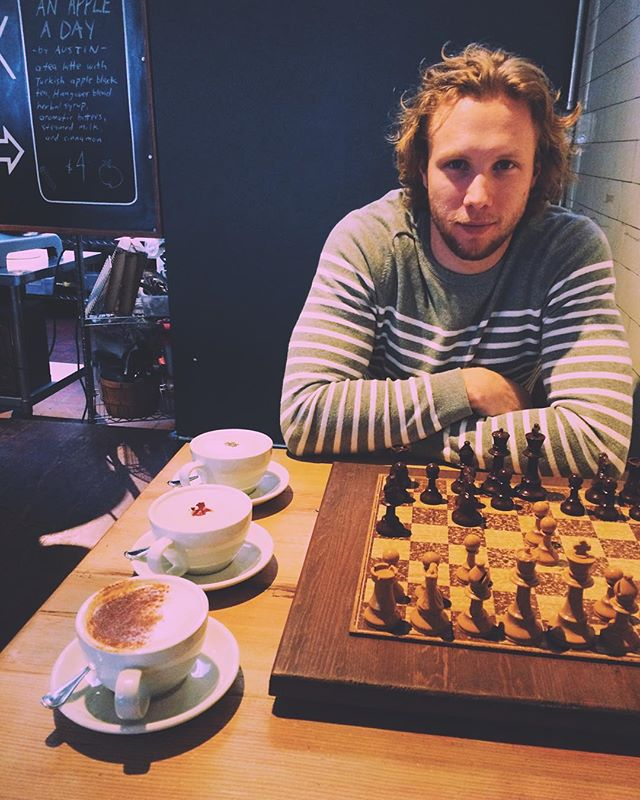 Three tea lattes, a painful loss in chess, and a tall Vanilla Bourbon.