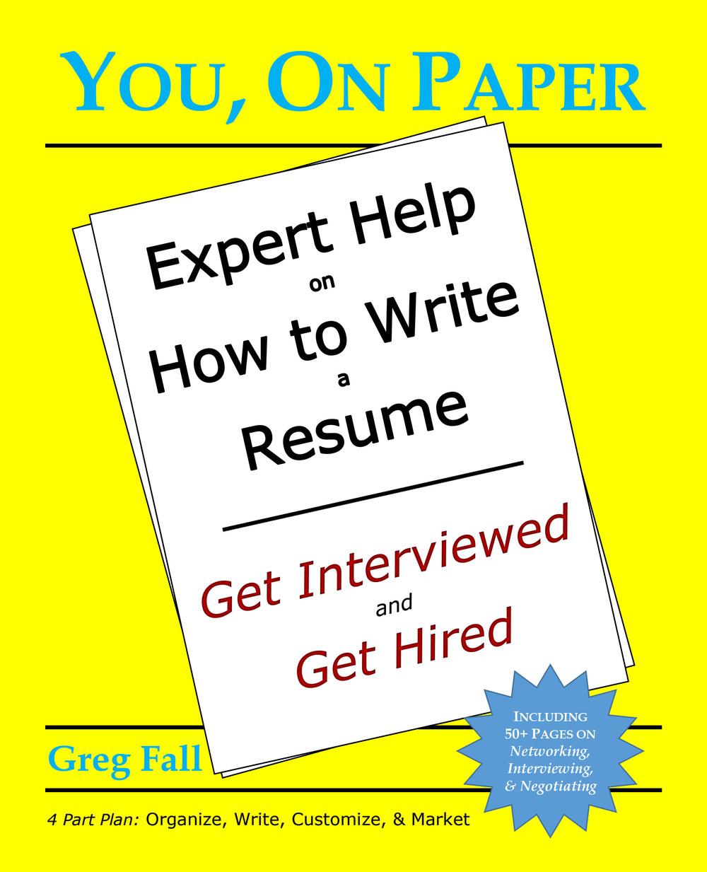 job search rescue write a resume